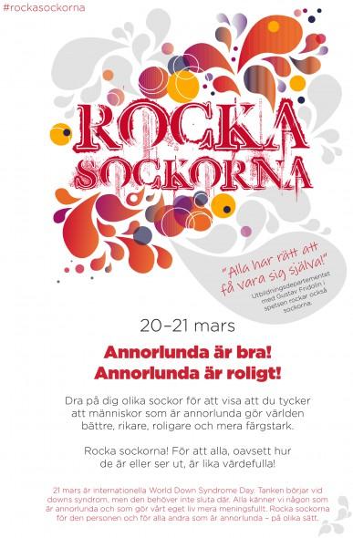 Rocka sockorna affisch A4 v3